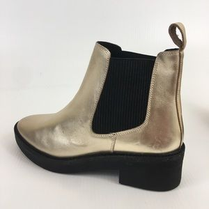 FREE PEOPLE Heiress Gold Metallic Chelsea Boot